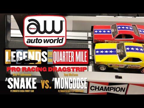 Auto World – Snake vs. Mongoose 13' Slot Car Pro Racing Dragstrip