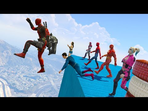 Superheroes EVENTS DAY, EXTREME FUNNY RACES (GTA 5 Funny Superhero Contest)