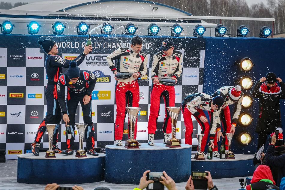 2020 WRC - Rally Sweden - Final podium (DPPI)