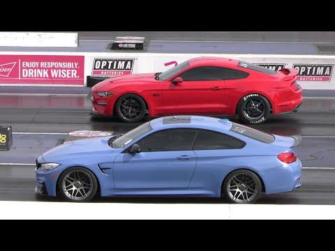 BMW M4 vs Mustang GT – drag racing