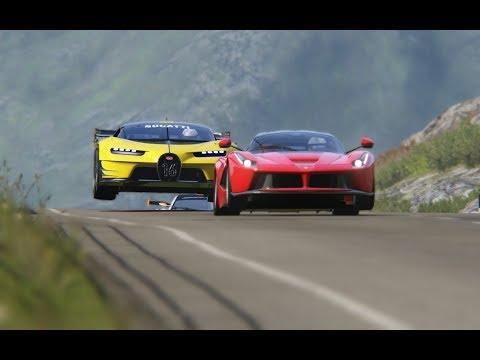 Bugatti Vision GT vs Super Cars at Highlands