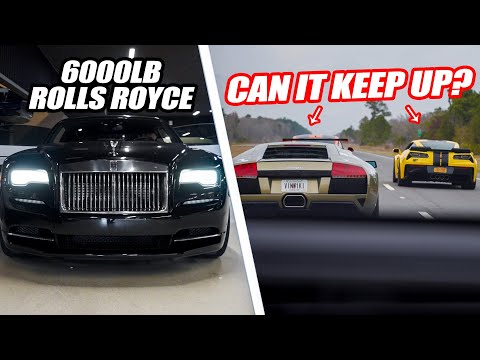 OUR FORD GT BROKE SO WE BEGAN RACING EVERYONE IN OUR 615HP ROLLS ROYCE! *LUXURY BARGE VS SUPERCARS*