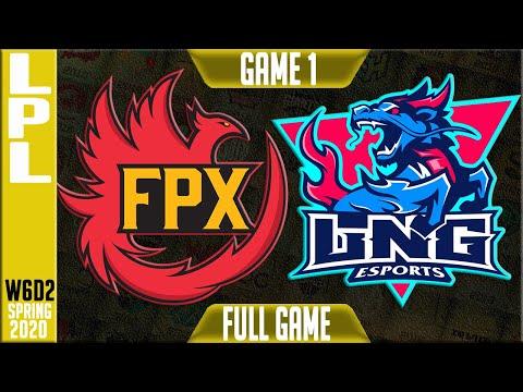 FunPlus Phoenix vs LNG Esports Game 1 Full | LPL Spring 2020 W6D2 | FPX vs LNG G1