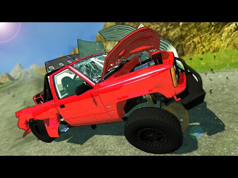 INSANE Truck Races & Shed Crashes on a Mountain! – BeamNG Gameplay Race & Crashes