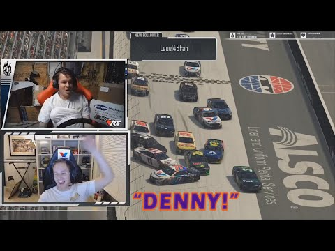 iRacing Funny Moments Special Edition – Denny Hamlin and Parker Kligerman Destroy Field and Banter!