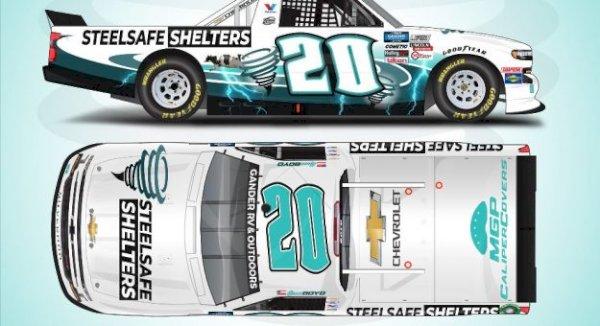 SteelSafe Shelters sponsoring Spencer Boyd at Kansas on Saturday