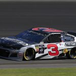 LONG POND, PENNSYLVANIA - JULY 27: Austin Dillon, driver of the #3 Freightliner Chevrolet, qualifies for the Monster Energy NASCAR Cup Series Gander RV 400 at Pocono Raceway on July 27, 2019 in Long Pond, Pennsylvania. (Photo by Chris Trotman/Getty Images)   Getty Images