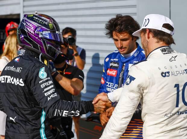 Lewis Hamilton, Pierre Gasly, Carlos Sainz