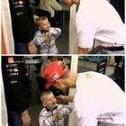 Michael Schumacher with a young Max Verstappen.