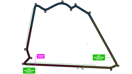 r/formula1 - Two DRS zones for the Sakhir GP