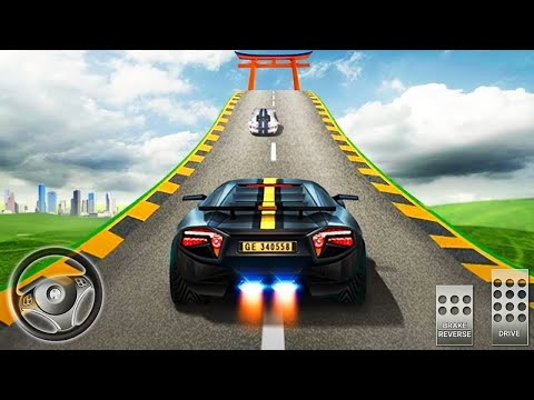 🟢Mega Ramp Car Stunts Races 3d Chevrolet Camaro Impossible Games Racing Android Gameplay