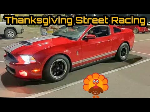 Thanksgiving Street Racing! Shelby GT500 VS Hellcat & Nitrous CTS-V! + M3, Civic Type R, & More!